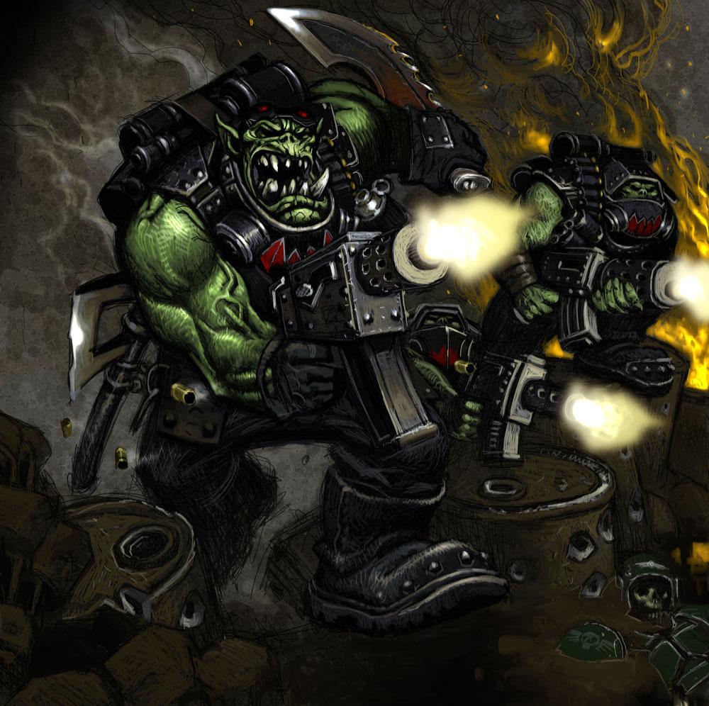 illus23.jpg (1000×996) Warhammer art, Card games, Art